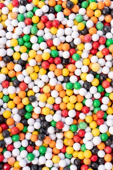 Top view colored candy surface