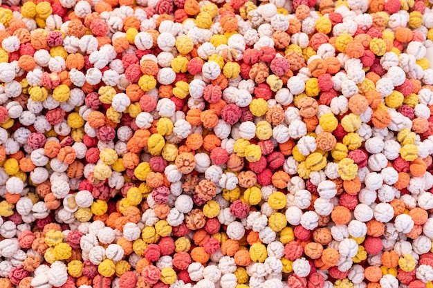 Top view colored sweets pattern surface
