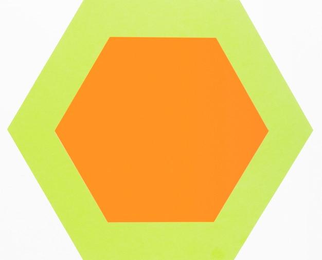 상위 뷰 다채로운 종이 육각형