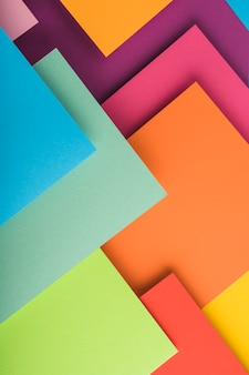 Top view of colorful paper sheets