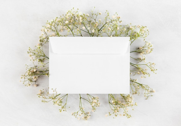 Top view composition of pretty mother's day elements