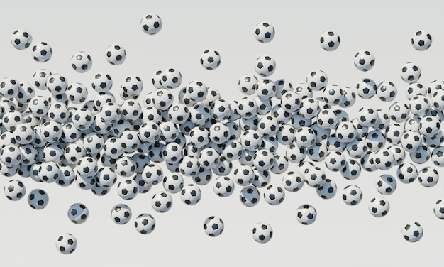 Top view of composition with soccer balls