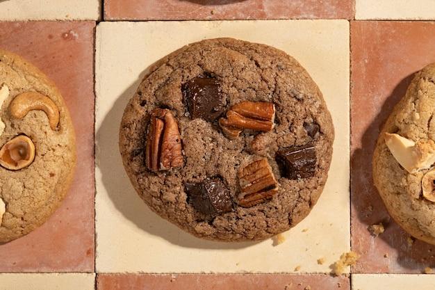 Top view cookies assortment