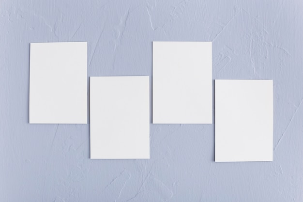 Top view corporate blank business cards