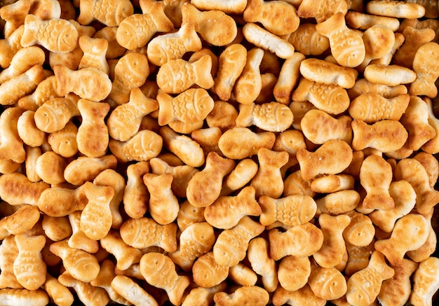 Top view crackers texture horizontal