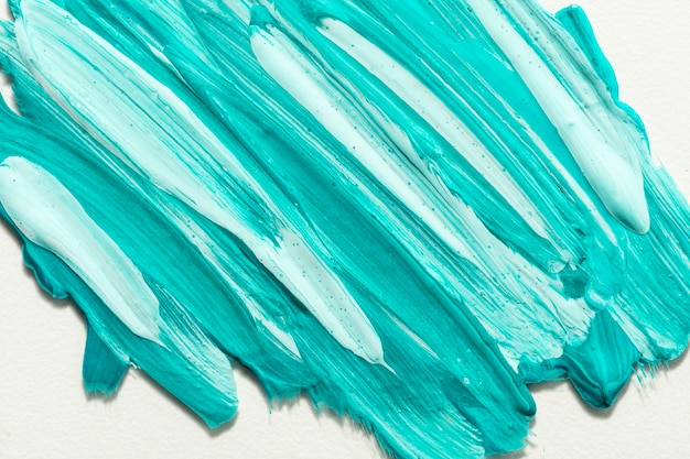 Top view of creative paint brush strokes on surface