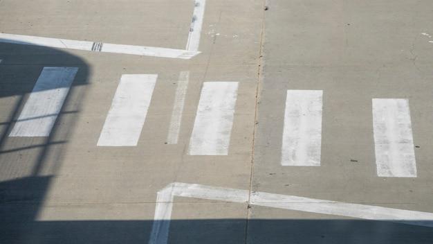 Top view crosswalk in a street