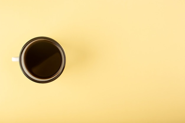 A top view cup of coffee