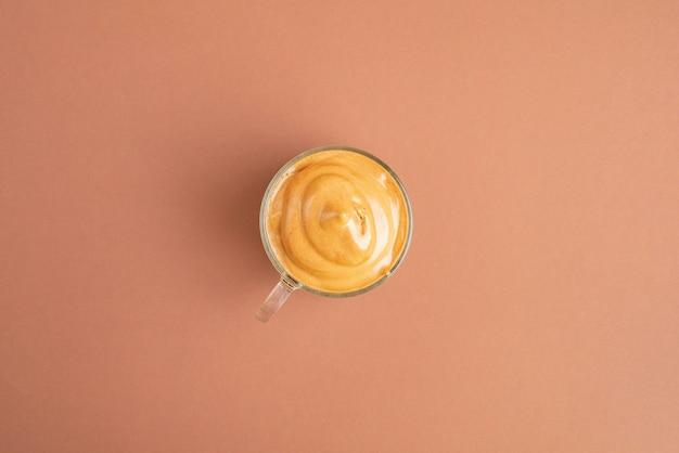 Tazza di caffè vista dall'alto