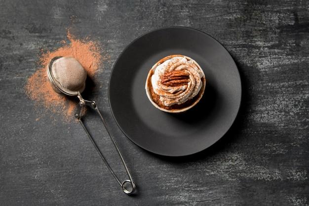 Cupcake vista dall'alto con cannella