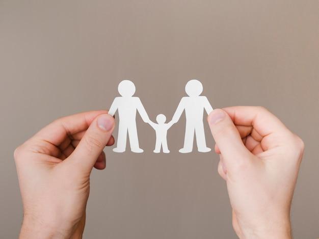 トップビューかわいいlgbt家族の概念の配置