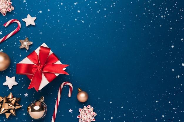 Рождественские украшения вид сверху