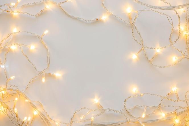 上面図装飾クリスマスホワイトライト