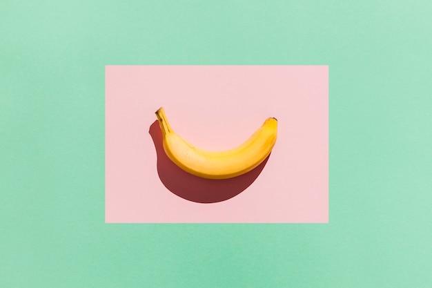 Top view delicious banana