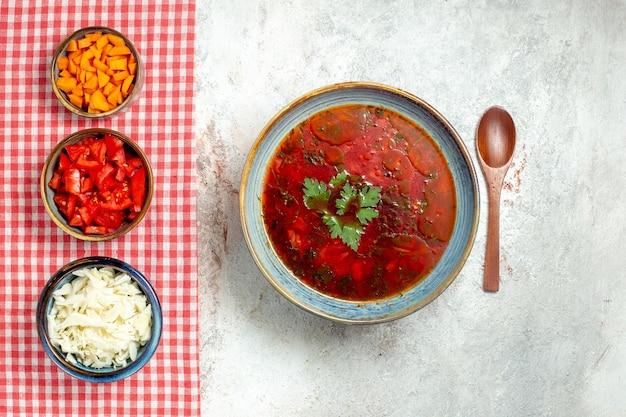 공백에 상위 뷰 맛있는 보쉬 유명한 우크라이나 사탕 무우 수프