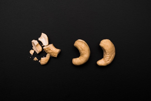 Top view of delicious cashew