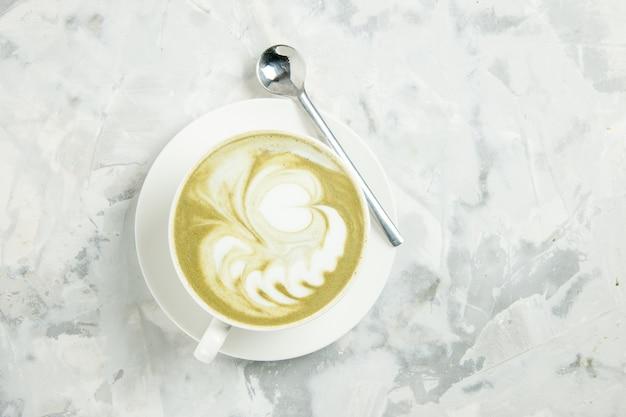상위 뷰 맛있는 에스프레소 흰색 배경에 커피 한잔 디저트 차 쿠키 케이크 비스킷 과자 아메리카노 카푸치노