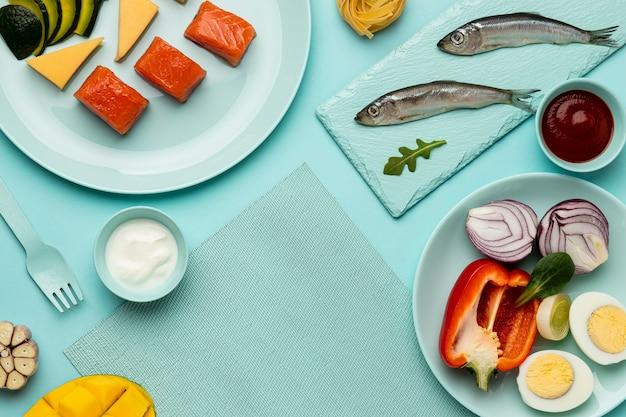 Вид сверху вкусной флекситарной диеты