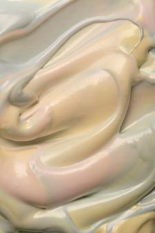Вид сверху вкусного мороженого