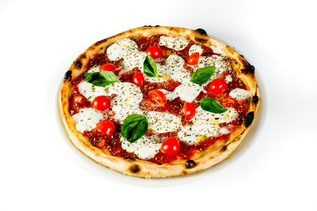 Top view of a delicious and prococative pizza