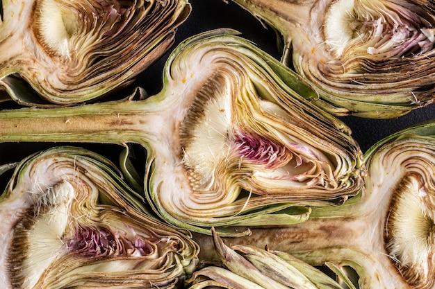 Вид сверху вкусный овощ