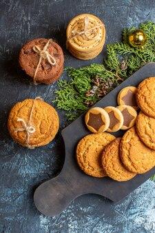 상위 뷰 다른 맛있는 크리스마스 쿠키