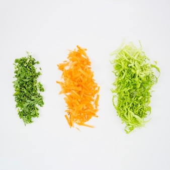 Top view of different kind of vegetables