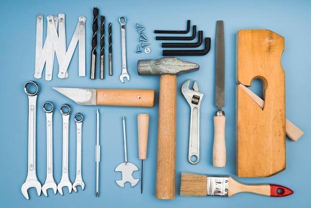トップビューのさまざまな種類のツール