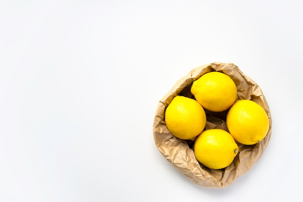 Эко сумка с лимонами вид сверху