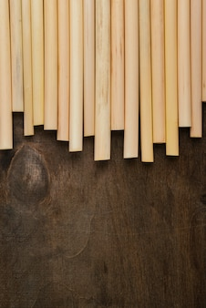 上面図環境にやさしい環境竹管ストロー