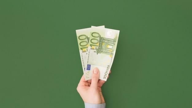 Top view of economy concept
