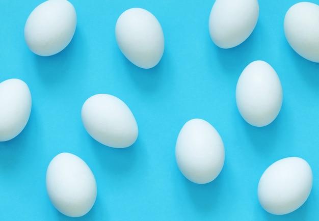 トップビューの卵コレクション