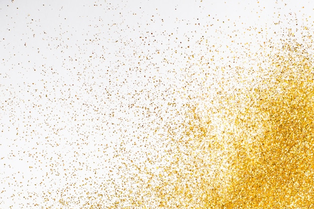 Top view elegant golden glitter background