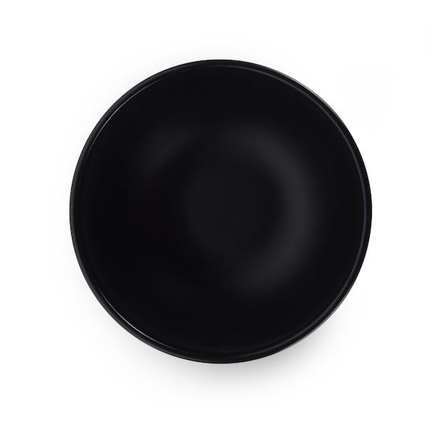 흰색 표면에 상위 뷰 빈 그릇