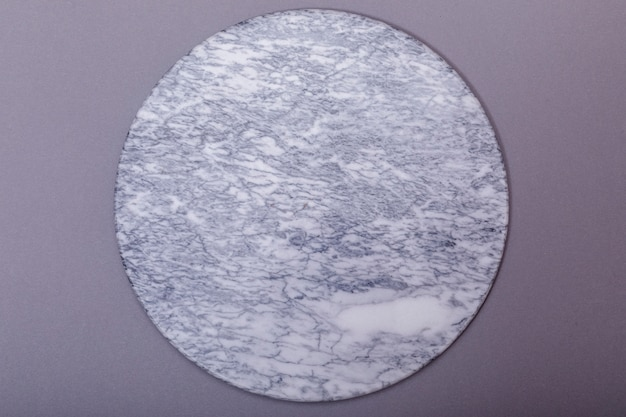 Top view of empty top of white mable stone table background