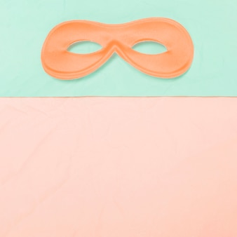 Top view of eye mask on dual background