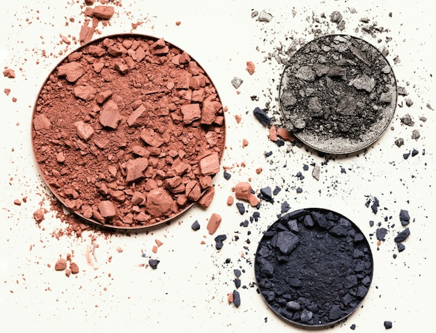 Top view eyeshadows for make up