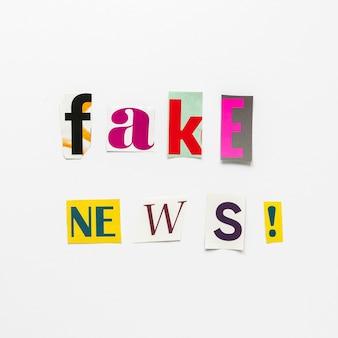 Notizie false in vista dall'alto