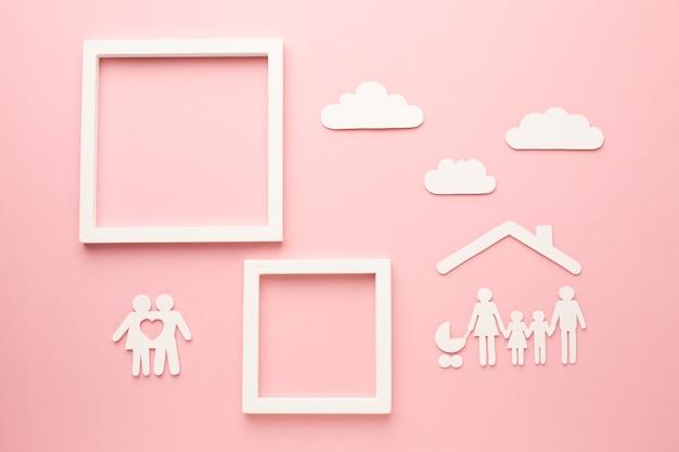 トップビュー家族図コンセプト