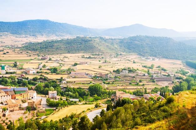 Top view of fields near cardona