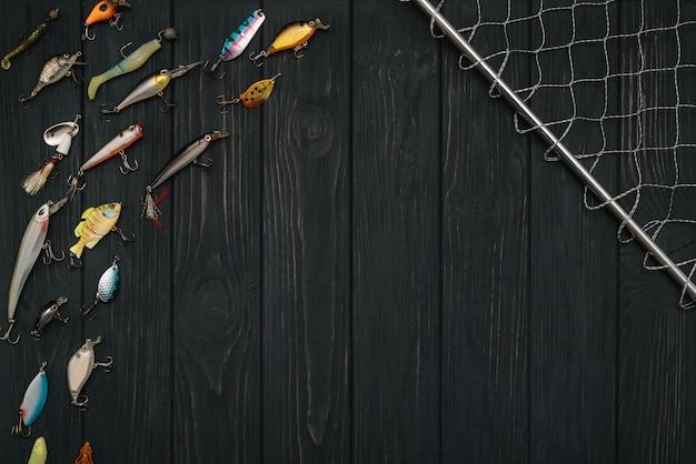 Рыболовное снаряжение вид сверху