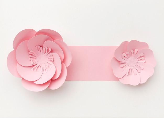 トップビューの花飾り