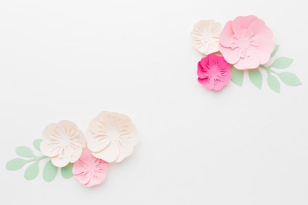 상위 뷰 꽃 종이 장식