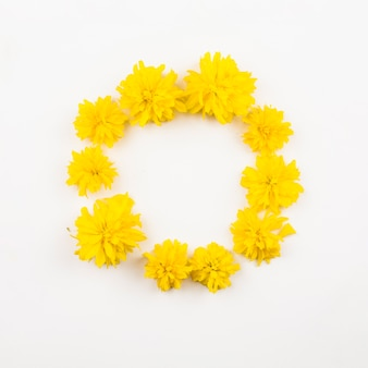 Top view of floral wreath