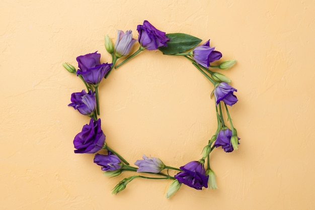 Top view floral wreath