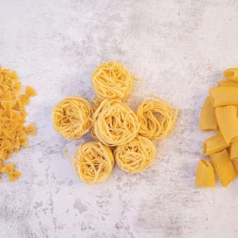 Top view flower made out of pasta