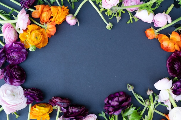 Букет цветов вид сверху