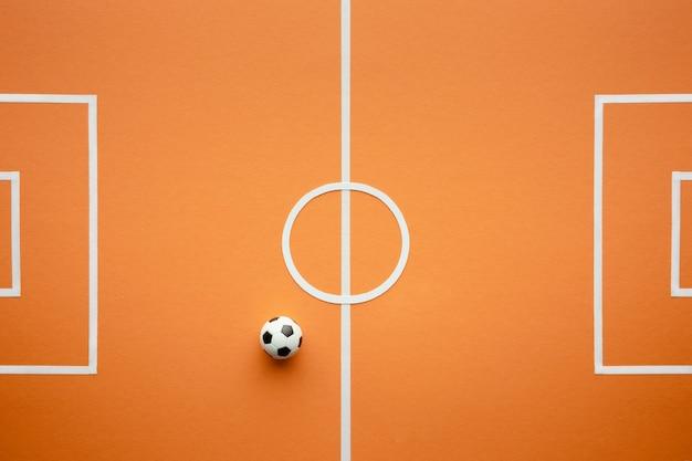 Вид сверху футбольное поле натюрморт
