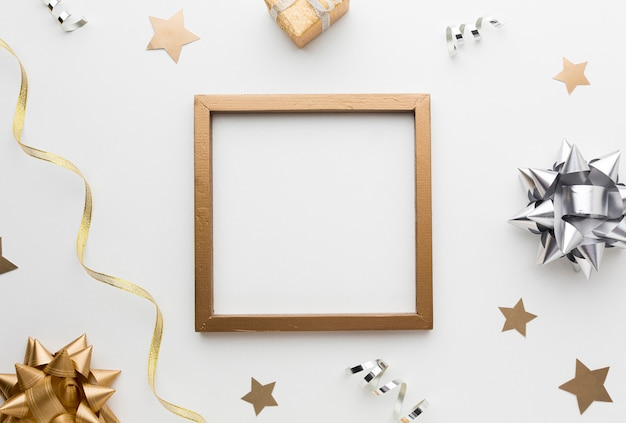 Top view frame and decorations