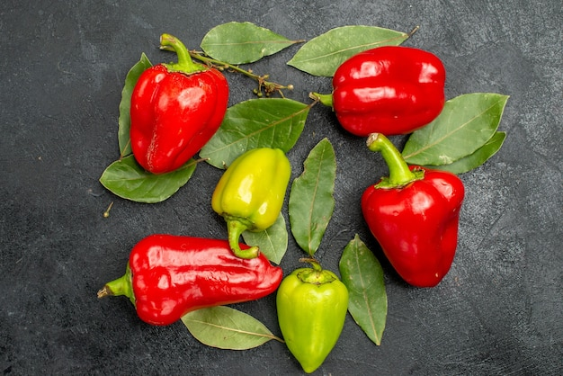 Top view fresh bell-peppers